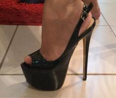 Sexy Legs And Heels, Platform High Heels, Black High Heels, Hot Shoes, Shoes Heels, Extreme High Heels, Beautiful High Heels, Unique Shoes, Stiletto Heels
