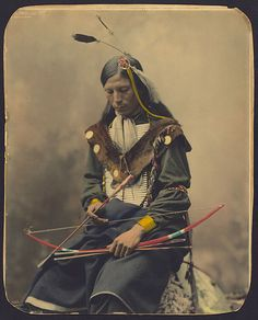Old photo of an Indian in America in the 1800's. Really a great photo.