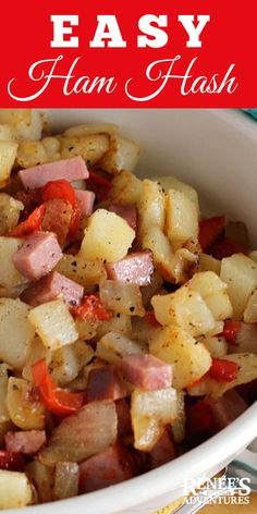 Ham Hash Ham Hash,What to do with leftovers? Ham Hash by Renee's Kitchen Adventures is the recipe you need to repurpose your leftover ham! Move over corned beef hash because Ham Hash is tasty,. Ham Hash Recipe, Recipes With Cooked Ham, Leftover Ham Recipes, Leftovers Recipes, Healthy Crockpot Recipes, Pork Recipes, Brunch Recipes, Cooking Recipes, Recipes