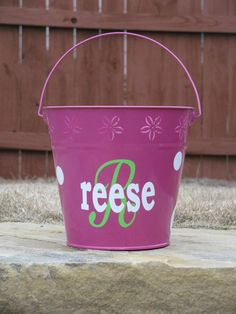 Personalized Easter Basket Tin Pail. $20.00, via Etsy.