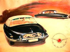 Auto-Union Project: Tatra's Streamliners - Yesterday's car of tomorrow Technical Illustration, Car Illustration, Illustrations, Us Cars, Sport Cars, Volkswagen, Aircraft Design, Car Advertising, Retro Futurism