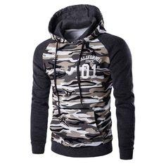 New Letskeep mens camouflage pullover hoodies casual slim hooded sweatshirts men hip hop pocket camo hoodie tracksuit Hot Men, Camo Hoodie, Camouflage Hoodies, Military Camouflage, Camouflage Sweatshirt, Camouflage Fashion, Pull Sweat, Camo Men, Cool Hoodies