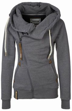 Traveller Side Zipper Sweatshirt Gray Size XL
