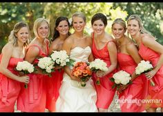 Bridesmaid dress and bouquet ideas