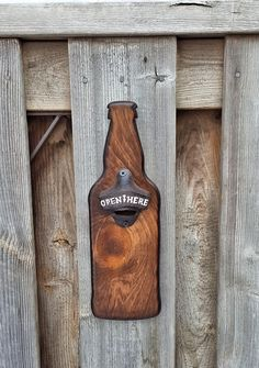 Hand Crafted Solid Pine Bottle Opener Wood Bottle Opener