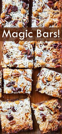 Classic 7-Layer Magic Bars! Chocolate, nuts, butterscotch, and coconut with a creamy filling on a graham cracker crust. They're the perfect make-ahead dessert for your next potluck. Watch them disappear off the table. On SimplyRecipes.com