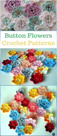 Crochet Button Flower Paid Pattern