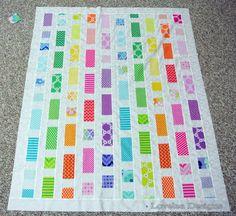 Brick Road Baby Quilt by Elise Lea of Lovelea Designs