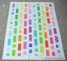 Brick Road Baby Quilt by Elise Lea of Lovelea Designs