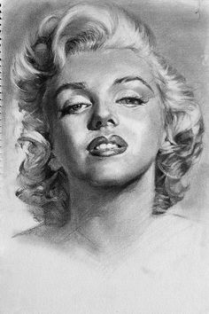 First pinned to Marilyn Monroe Art board, here: http://pinterest.com/fairbanksgrafix/marilyn-monroe-art/ || Marilyn Monroe portrait - cannot make out artist name