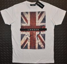 f817a98409 Primark Union Jack Flag MENS T SHIRT British London GB NEW UK Sizes XS - XXL