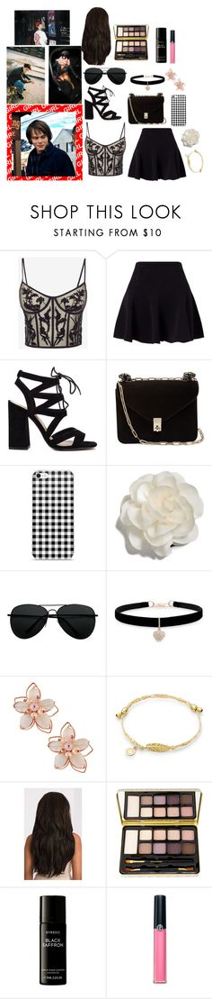 """""""That this comet feels me"""" by theater-potter-dance-warriors ❤ liked on Polyvore featuring Alexander McQueen, Miss Selfridge, Valentino, Cara, Betsey Johnson, NAKAMOL, Bella Il Fiore, Liberty and Armani Beauty"""