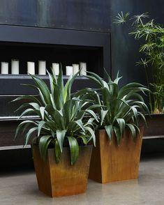 Planterworx corten tapered planters