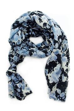marble scarf - could do this with black jeans!