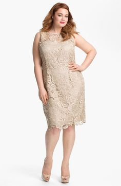 Mother of the Bride: Adrianna Papell Sleeveless Lace Dress (Plus Size) available at #Nordstrom