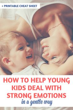 If you are looking for solutions on how to help young kids deal with strong emotions, I hope that you'll find some good ideas in this article. | Gentle parenting tips | Managing emotions | Handling tantrums | Developing emotional intelligence | Talking with kids about emotions