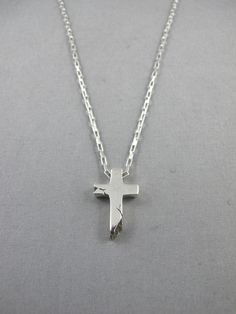 Cast Of Vices x Herman Cross Necklace in Metallic Silver GGJ86Vwcj
