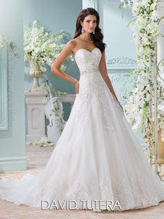 Find this beautiful David Tutera for Mon Cheri wedding dress at Potomac Bridals | 710 Dual Hwy, Hagerstown, MD 21740