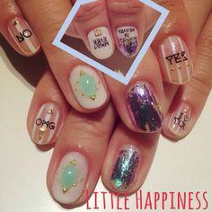 ミラーフィルムネイル #ネイル#nail#ネイルアート#原宿#リトルハピネス#LittleHappiness#nailart#ネイルデザイン