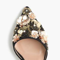 Collection Elsie floral sequin d'Orsay pumps