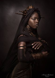 The Ancient Times.This is an extract of the shooting with the very High Photograph the Incredible Designer… Black Women Art, Black Girls, Black Art, Black Characters, African Diaspora, Poses, Dark Beauty, Gothic Beauty, Black Models