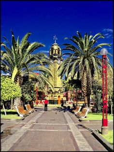 Clock Tower in Plaza Colón, Antofagasta, Chile by Victorddt Rafting, Latin America, South America, Painted Desert, Unique Clocks, Country Names, Spain And Portugal, Koh Tao, Beautiful World