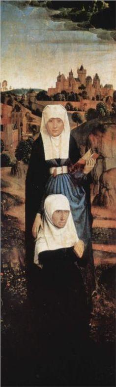 MEMLINC Hans: Flemish school (Seligenstadt, active by 1465 - 1494 Bruges) - Praying Donor with Saints, 1470