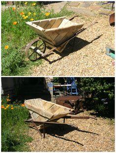 #Garden, #RecycledPallet, #Wheelbarrow