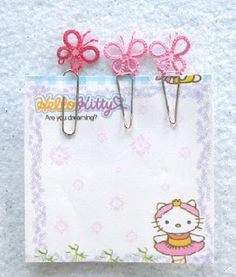 Tatted Butterfly Paper Clips
