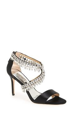 Badgley Mischka Crystal-Embellished Sandal (Women) available at #Nordstrom