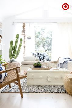 Create a sunny retreat of your own in just three easy steps from Target Home Style Expert, Emily Henderson. 1. Work with a tight palette, limiting it to 3 colors at the most. Don't be afraid to mix different tones as long as you stay within your palette—f