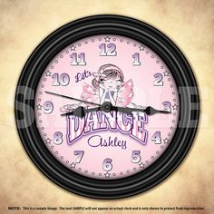 Dancer's Time Personalized Wall Clock  Dance by DecorativeTime