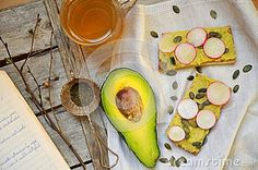 Healthy Breakfast With Avocado And Chickpea Pesto With Tea - Download From Over 30 Million High Quality Stock Photos, Images, Vectors. Sign up for FREE today. Image: 51100622