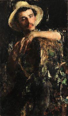 Antonio MANCINI (ROMA 1851 - 1930) - Ritratto maschile