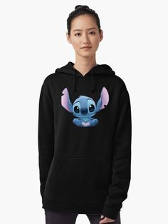 'Stitch Heart' T-Shirt by Kurostars Plus Size Hoodies, Trendy Hoodies, Cute Sweatshirts, Cute Disney Outfits, Cute Lazy Outfits, Cute Things For Girls, Toothless And Stitch, Lilo And Stitch Quotes, Stitch Hoodie