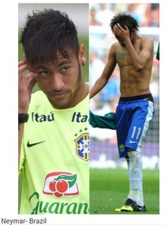 Neymar: 12 Sexy World Cup Soccer Players and he is number 1 Neymar Jr, Tennis Players, Football Players, Messi, Brazilian Soccer Players, Neymar Brazil, Boyfriend Goals, Soccer Boyfriend, Tennis World