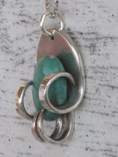 Fork Necklace with Stone  $27.99  www.laughingfrogstudio.etsy.com