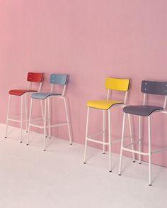 Mobilier de bar vintage chaise haute Suzie - Sledge