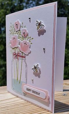 HAPPY BIRTHDAY, GET WELL, THANK YOU HANDMADE CARD KIT, STAMPIN' UP JAR OF LOVE