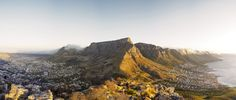 Table Mountain's flat-topped silhouette is famous the world over. #Africa #SouthAfrica #CapeTown #travel #landscape