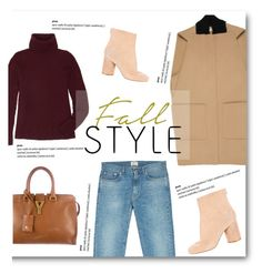 """""""Fall Style With The RealReal: Contest Entry"""" by burcuciz ❤ liked on Polyvore featuring Balenciaga, Acne Studios, The Row, Maison Margiela and Yves Saint Laurent"""