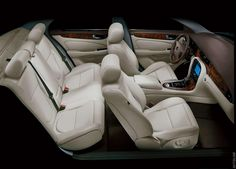 Comfort, class and style. Really interesting shot too.  2006 Jaguar XJ