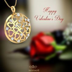 Sending love to everyone out there… Happy Valentine's Day all! Indian Online, Class Design, Valentines Day Hearts, Heart Of Gold, Heart Earrings, Gold Jewellery, Christmas Bulbs, Jewelry Design, White Gold