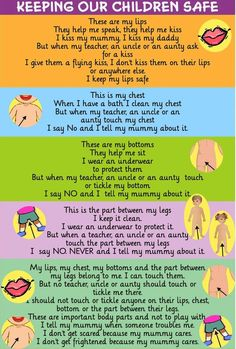 Be Alert- Be Safe – in times where kids re molested frequently, we elders cannot keep them ignorant. Teaching them good and bad touch is the need of the day. I selected this poem as it explains the body parts which cannot be touched. It also tells who can touch and who cannot. (http://www.kidsstoppress.com/2015/08/5-videos-that-best-explain-good-touch-bad-touch-to-children-2/). The 5 videos helps parents/teachers to teach kids about sexual abuse