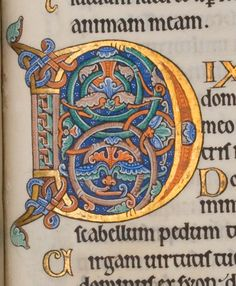 The Hunterian Psalter, William Hunter, c. 1170 | I always loved the Disney movies that have these at the beginning, like Sleeping Beauty and Sword in the Stone.