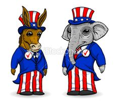 democrate and republican donkey and elephant | ... -illustration-13259114-democrat-donkey-and-republican-elephant.jpg