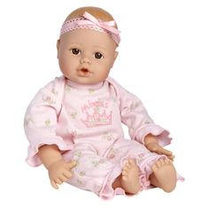 Adora PlayTime™ 13'' Baby Doll - Light Skin and Brown Open Close Eyes