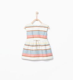 Striped dress with belt detail-Dresses-Baby girl (3 months - 3 years)-KIDS | ZARA United States