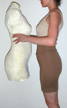 Make a dress form: hers seems to work really well and addresses the problems I have found with other diy dress forms. Im definitely going to try this one and post my results!