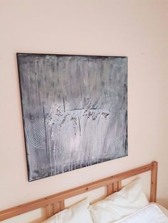 Aryl+Kunst+Acrylmalerei+Abstrakt+Leinwand+Keilrahmen+80+x+80++cm+Style+Struktur1